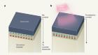 Temperature-dependent polarization in a non-polar crystal