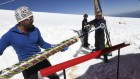 Ice on the Alps's highest peak details a pollutant's rise