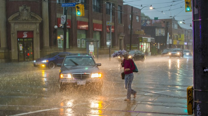 Torrential summer rain in Toronto may be a harbinger of future weather in North America.