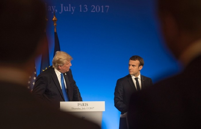 French President Emmanuel Macron (right) with his US counterpart, Donald Trump.