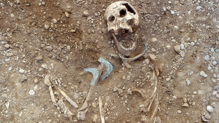 Analyses of human skeletons suggest many women moved to Germany's Lech River valley during the Bronze Age.