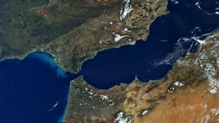 When the Strait of Gibraltar closed up, the surface of the Mediterranean Sea dropped by more than a kilometre.